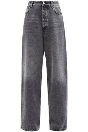 Balenciaga Women High Waisted - High-rise Wide-leg Jeans - Womens