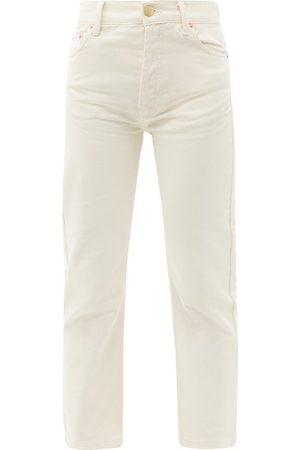Raey Crop Straight-leg Jeans - Womens - Ivory
