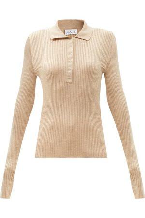 Raey Women Polo Shirts - Lightweight Silk-blend Knitted Polo Shirt - Womens