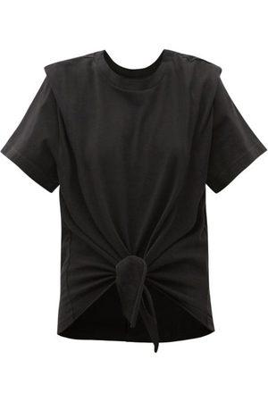 Isabel Marant Zelito Tie-front Cotton T-shirt - Womens