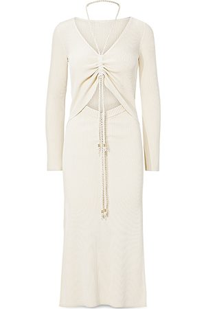 Nicholas Luisa Ruched Cutout Midi Dress