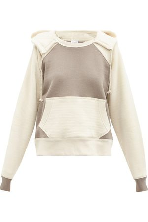 Raey Two-tone Double-layer Cotton Hooded Sweatshirt - Womens - Multi