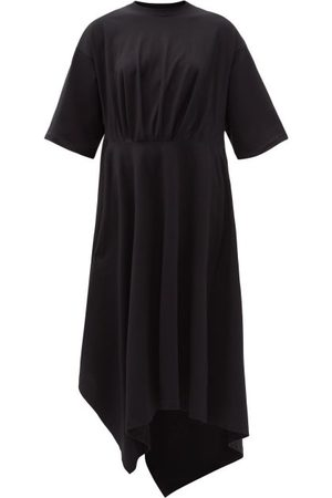 Balenciaga Asymmetric-hem Cotton-jersey T-shirt Dress - Womens