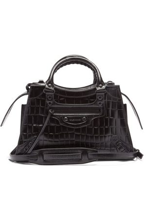 Balenciaga Neo Classic City Crocodile-effect Leather Bag - Womens
