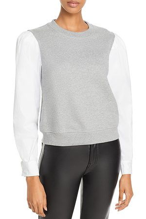Derek Lam Milton Cotton Mixed Media Sweatshirt