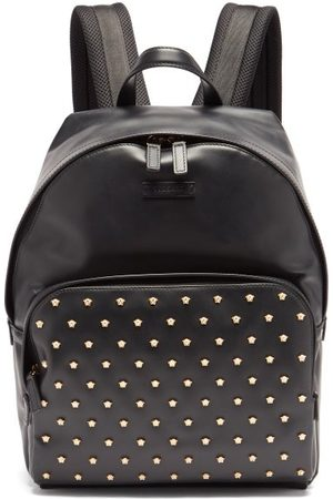 VERSACE Medusa-stud Leather Backpack - Mens