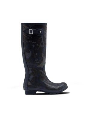 Hunter Women Thigh High Boots - Women's Original Butterfly Camo Print Tall Rain Boots