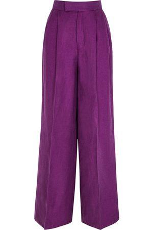 Soeur Joplin wide-leg linen trousers