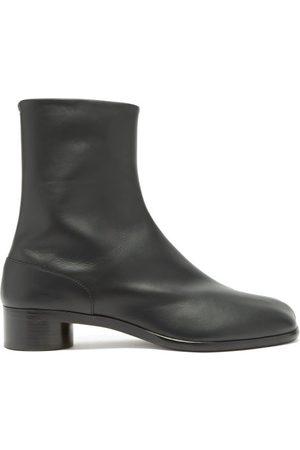 Maison Margiela Men Ankle Boots - Tabi Split-toe Leather Ankle Boots - Mens