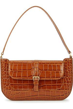 By Far Miranda crocodile-effect leather shoulder bag