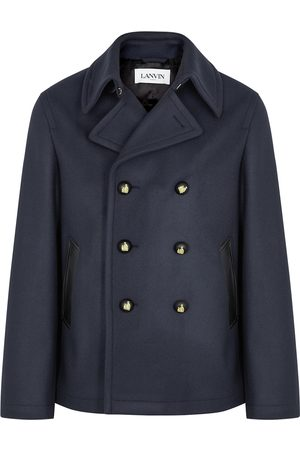 Lanvin Navy double-breasted wool peacoat