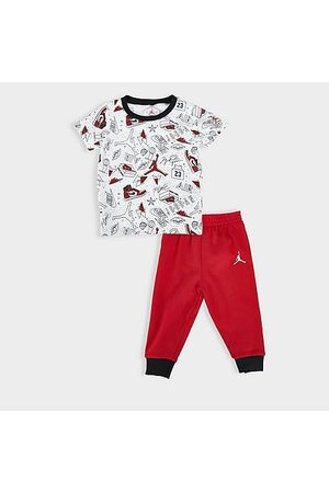 Jordan Boys' Infant Flight AOP T-Shirt and Jogger Pants Set in /