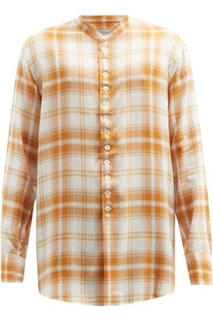 Bed J.W. Ford Stand-collar Checked Shirt - Mens
