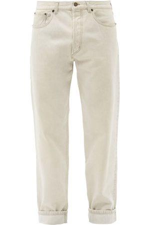 Saint Laurent Mid-rise Straight-leg Jeans - Mens - Grey