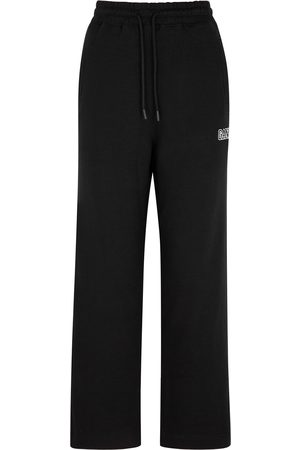 Ganni Software logo cotton-blend sweatpants
