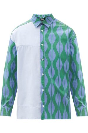 Ahluwalia Dennis Abstract-print Organic-cotton Shirt - Mens