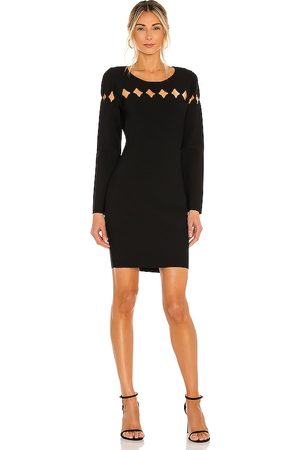 Milly Scallop Cut Out Fitted Dress in .