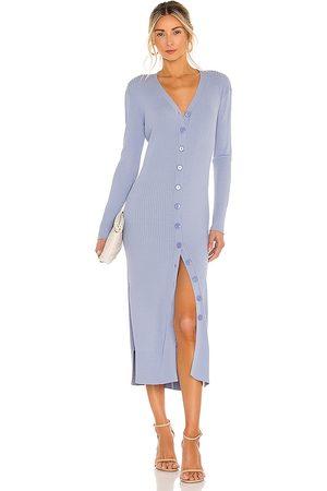 LINE & DOT Simone Button Down Sweater Dress in .