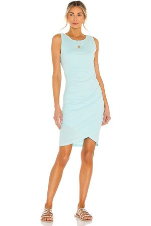 Bobi Supreme Jersey Dress in Blue.