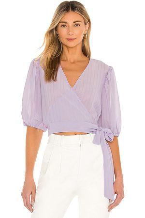 Bardot Isabella Wrap Top in Lavender.