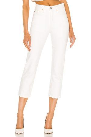 Levi's Women 501 Crop in White.