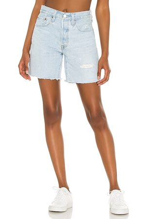 Levi's 501 Mid Thigh Short in Blue.