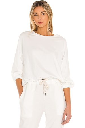 NSF Annelise Shirred Hem Bubble Top in .