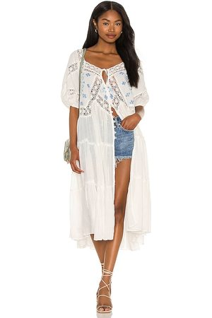 Free People Delilah Embroidered Maxi Top in Ivory.
