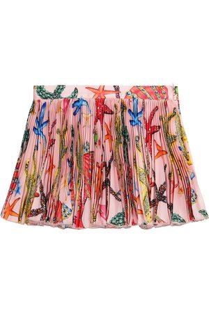 VERSACE Printed pleated skirt