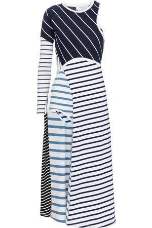 Marine Serre Women Midi Dresses - Striped cotton midi dress
