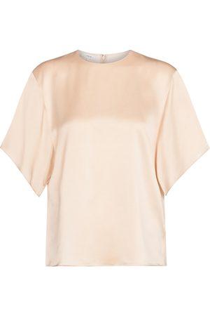 Vince Women Blouses - Silk satin blouse