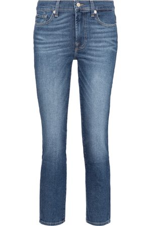 7 for all Mankind Women High Waisted - Roxanne mid-rise slim jeans