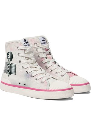 Isabel Marant Benkeen canvas high-top sneakers