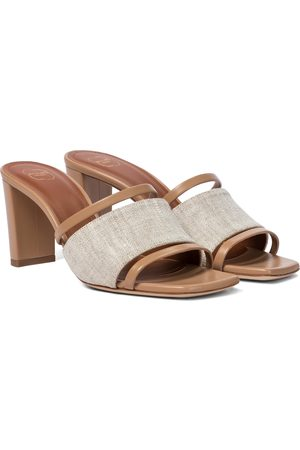 MALONE SOULIERS Women Sandals - Demi 70 linen and leather sandals
