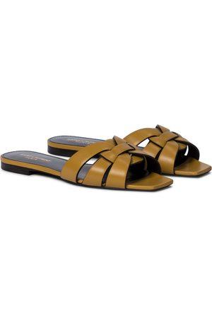 Saint Laurent Women Sandals - Tribute Nu Pieds 05 leather slides