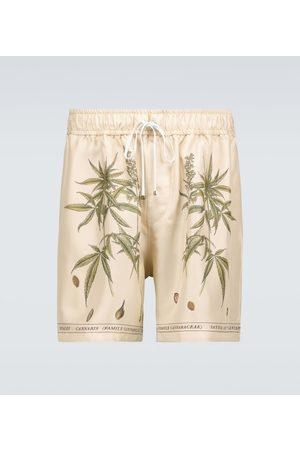 AMIRI Botanical printed silk shorts