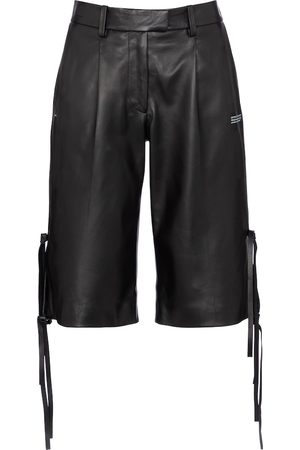 OFF-WHITE Leather Bermuda shorts