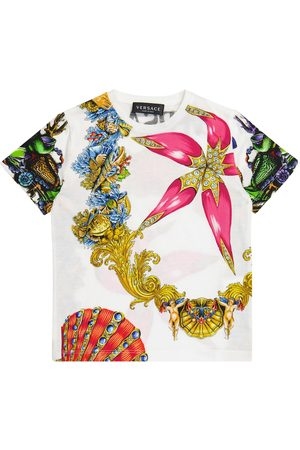 VERSACE Printed cotton T-shirt
