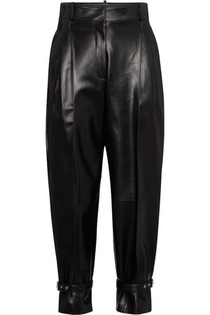 Alexander McQueen High-rise tapered leather pants