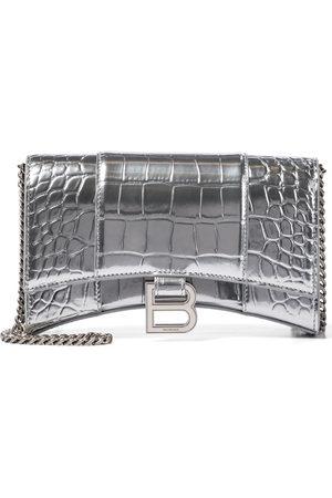 Balenciaga Hourglass Mini leather shoulder bag