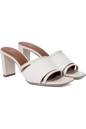 MALONE SOULIERS Demi 70 linen and leather sandals