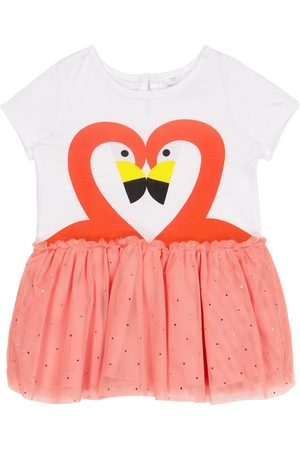 Stella McCartney Baby flamingo jersey and tulle dress