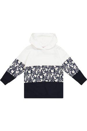 Moncler Logo cotton-blend hoodie dress