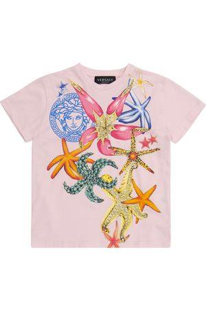 VERSACE Printed stretch-cotton T-shirt