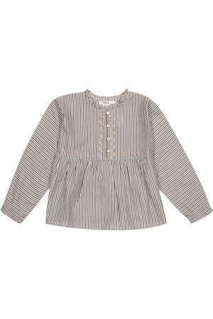 BONPOINT Sheila striped cotton-blend blouse