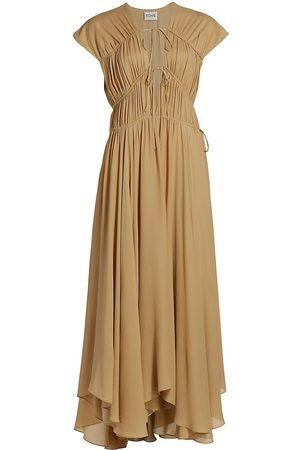 Tove Women's Flores Silk Dress - Flaxen - Size 6