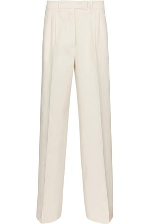 Fendi High-rise wide-leg linen pants