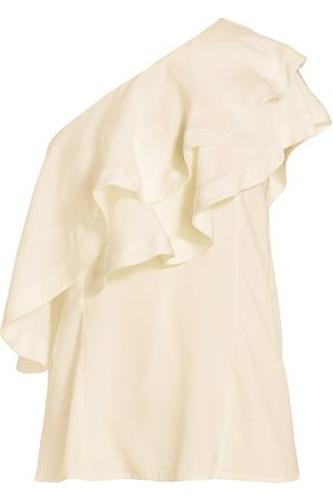 3.1 Phillip Lim Women's One-Shoulder Ruffle Top - Ivory - Size 12