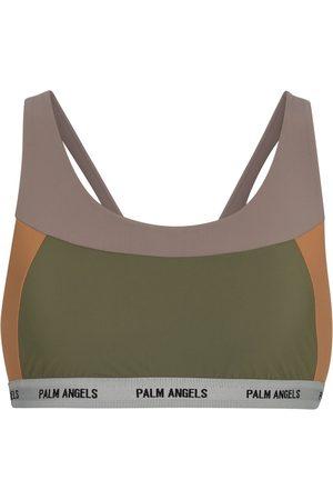 Palm Angels Stretch-jersey sports bra