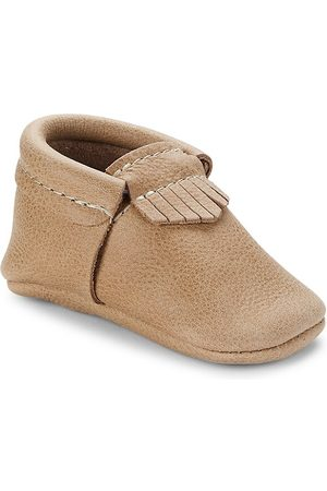 Freshly Picked Boys Loafers - Baby Boy's Weathered City Mini Sole Leather Moccasins - Weather - Size 3 (Baby)